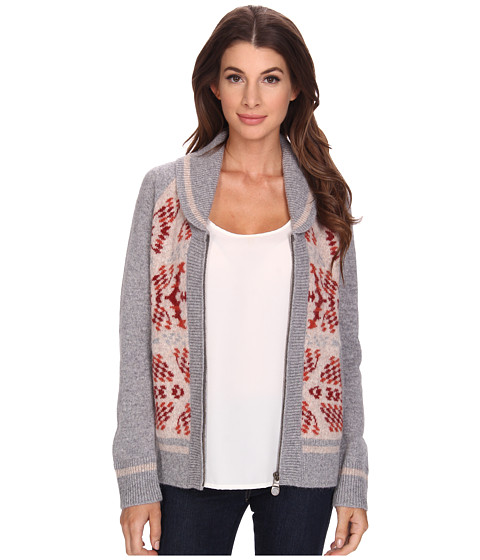 Pendleton - Mountain Zip Cardigan (Soft Grey Heather Multi) Women