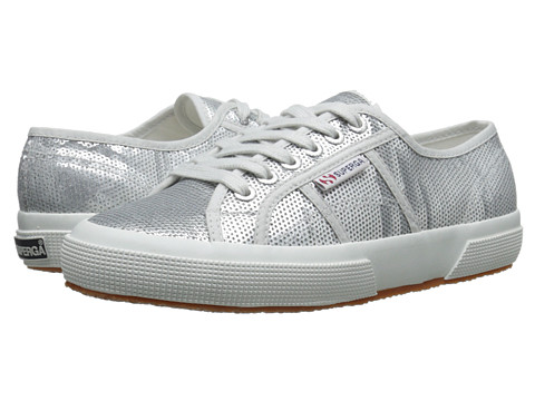 Superga - 2750 Pail COTW (Silver) Women's Lace up casual Shoes