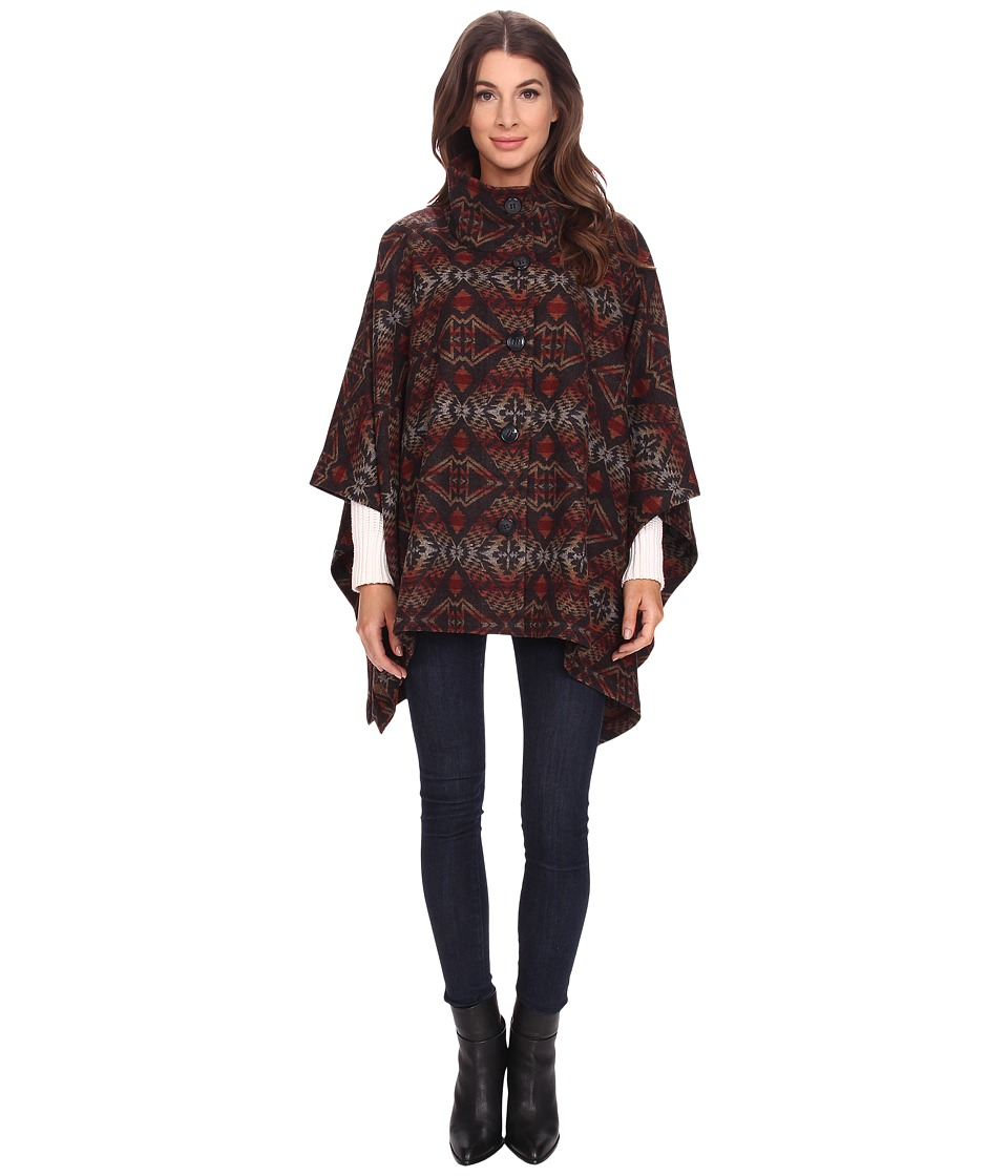 Pendleton - Chaparral Cape (Thunder/Earthquake Jacquard) Women