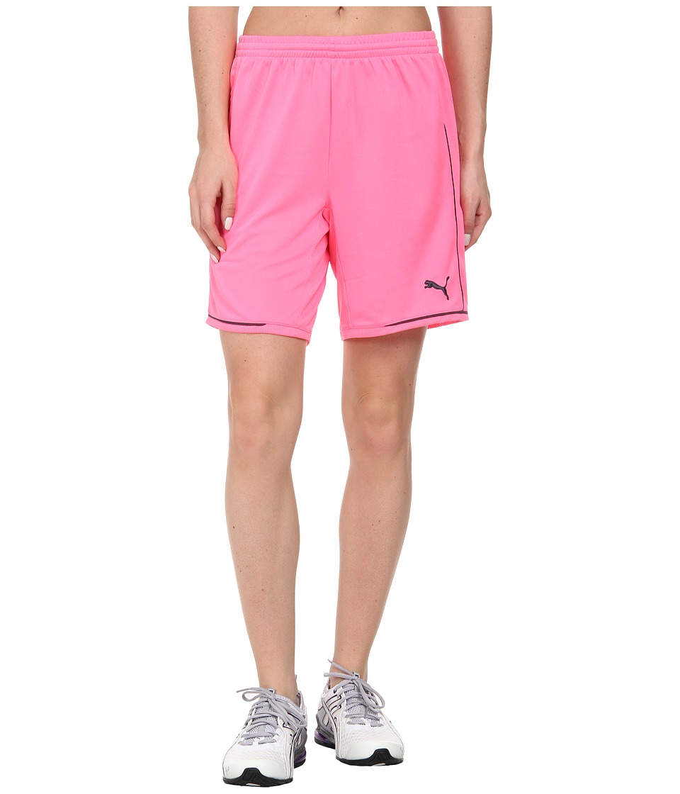 PUMA - Manchester Short (Fluo Pink/Team Charcoal) Women's Shorts