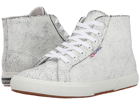 Superga - 2095 Cracked LEAW (White) Women's Lace up casual Shoes