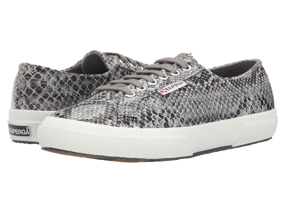 Superga - 2750 Cot Snake W (Black/Grey) Women's Lace up casual Shoes