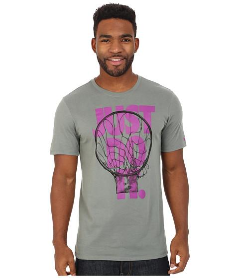 Nike - JDI Tee (Tumbled Grey/Vivid Purple/Tumbled Grey) Men's T Shirt