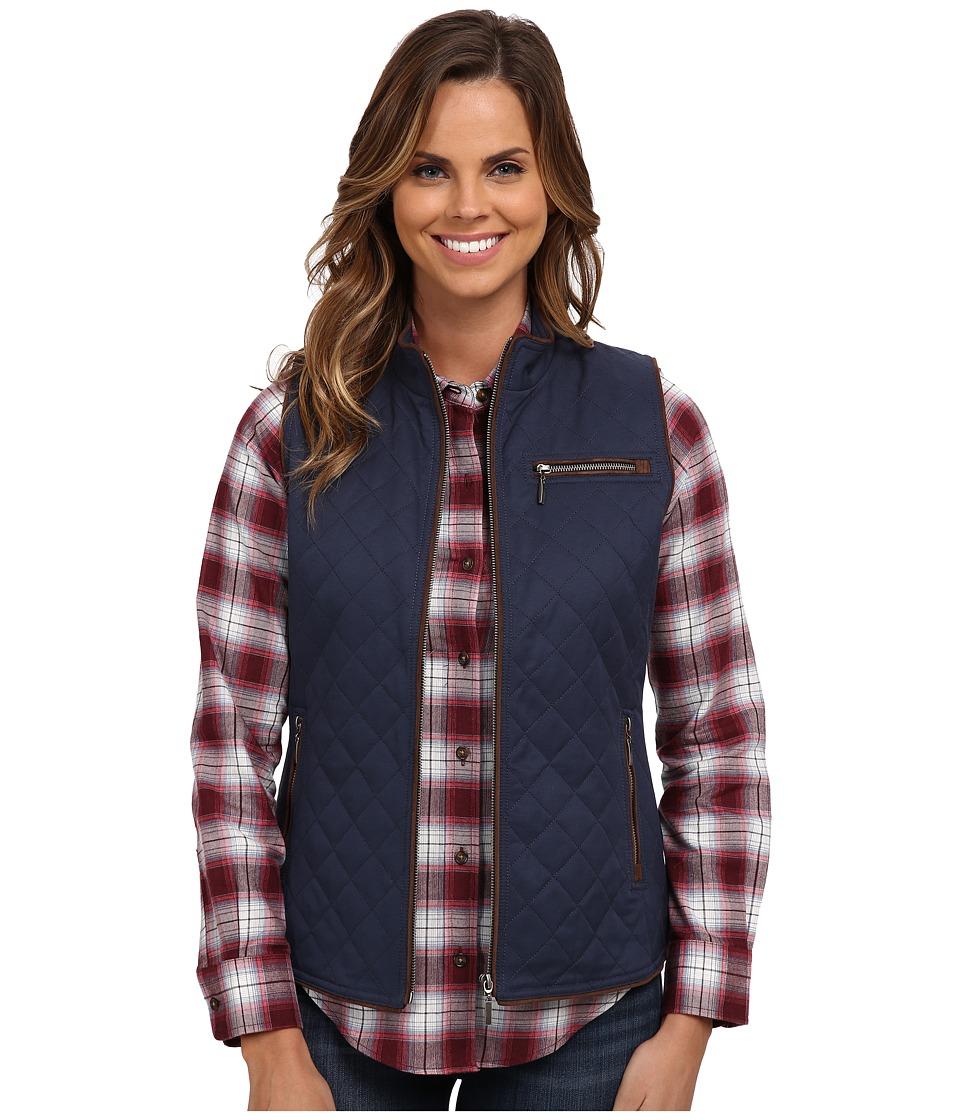Pendleton - Trimmed Quilted Vest (Indigo) Women
