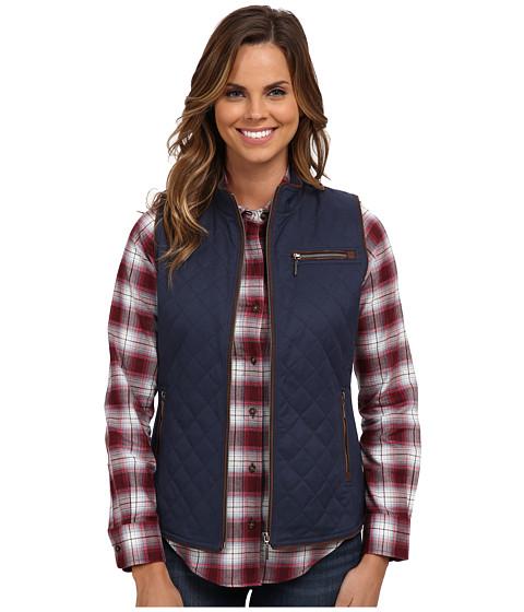 Pendleton - Trimmed Quilted Vest (Indigo) Women's Vest