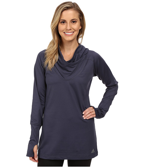 adidas - Hooded Tunic (Midnight Grey/Matte Silver) Women's Sweatshirt