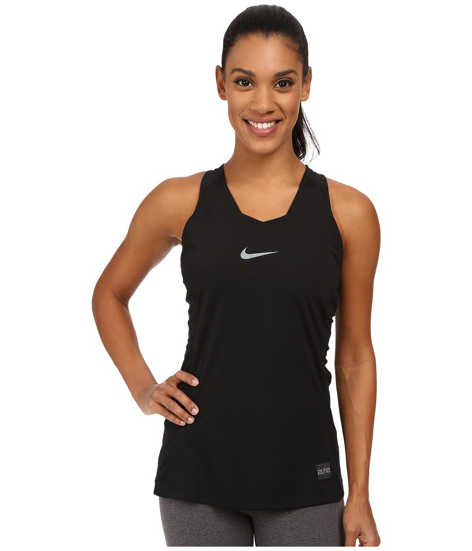 Nike - Elite Tank Top (Black/Cool Grey) Women's Sleeveless