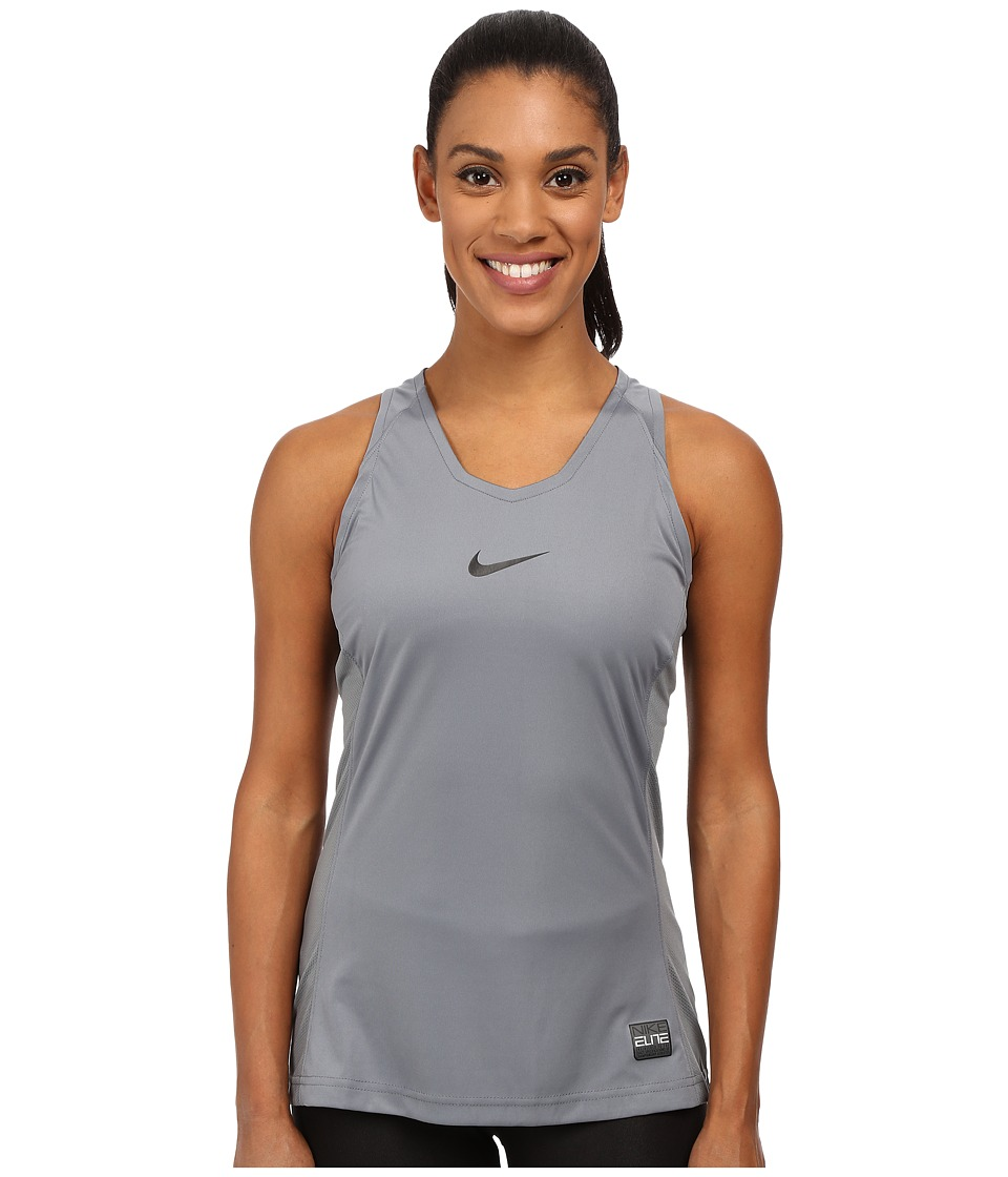 Nike - Elite Tank Top (Cool Grey/Black) Women's Sleeveless