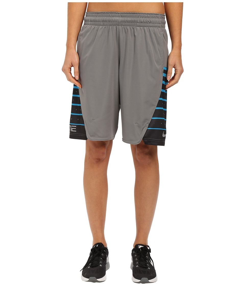 Nike Elite Shorts (Tumbled Grey/Metallic Silver) Women