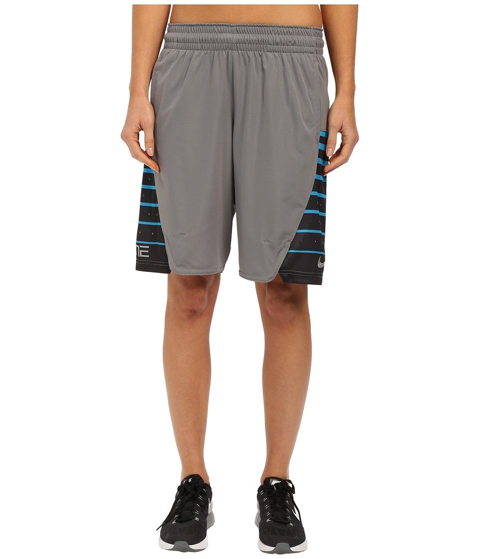 Nike Elite Shorts (Tumbled Grey/Metallic Silver) Women