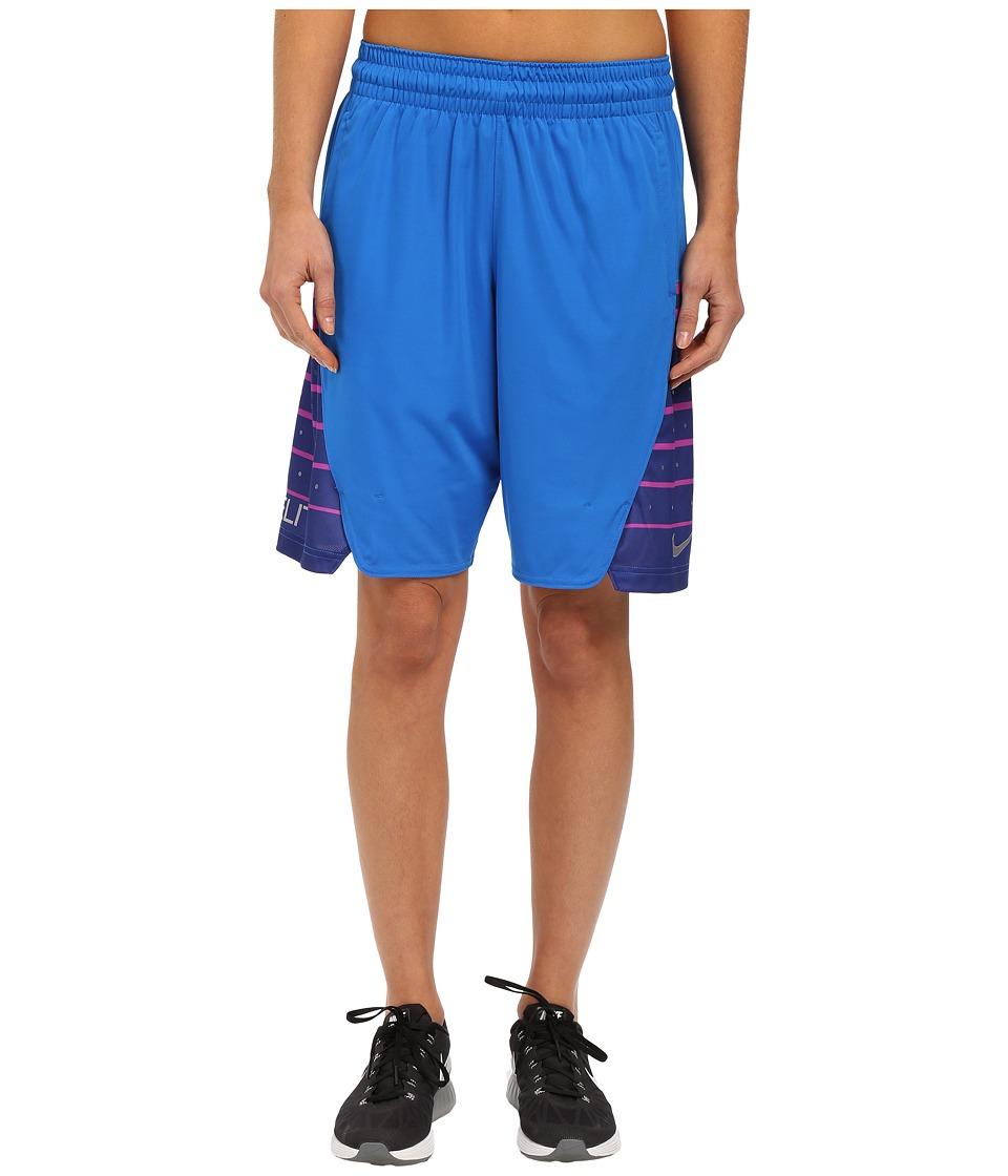 Nike Elite Shorts (Soar/Metallic Silver) Women
