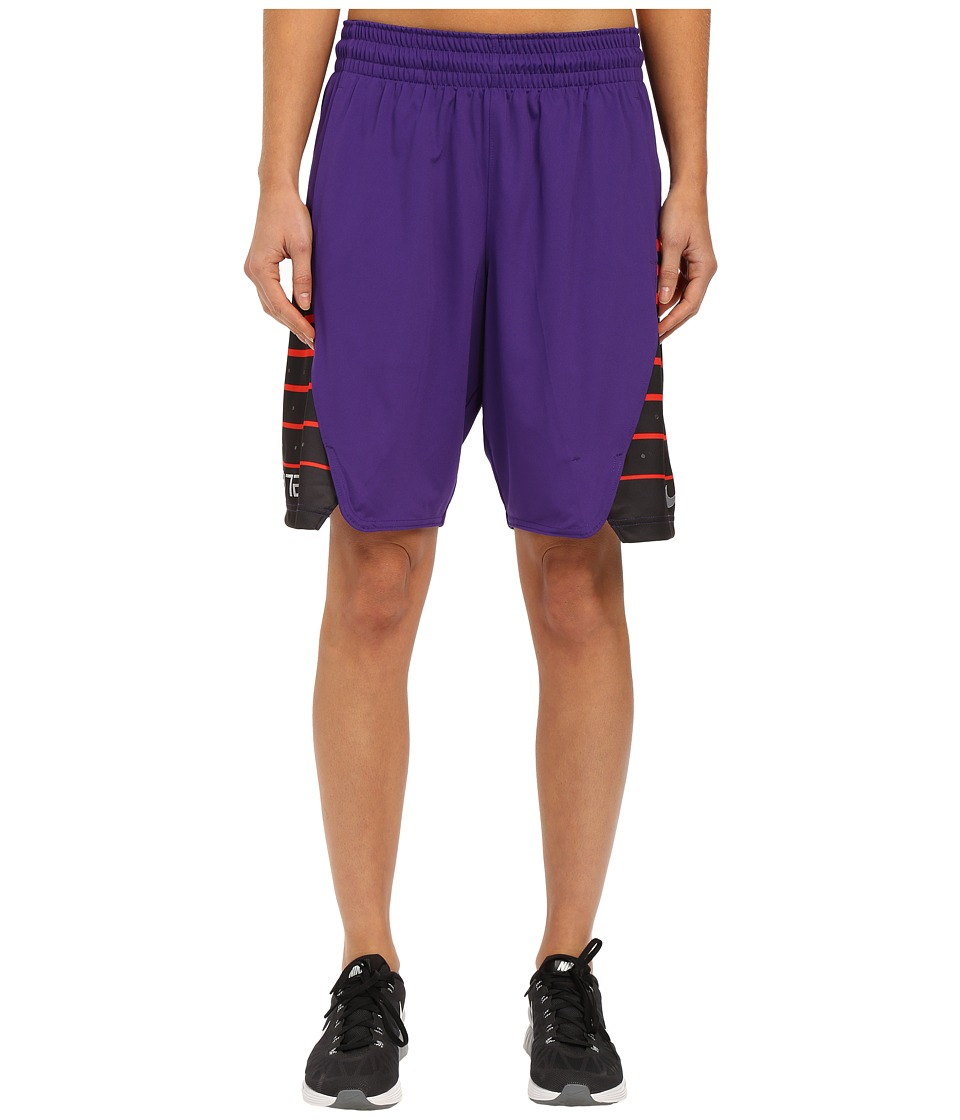 Nike - Elite Shorts (Court Purple/Metallic Silver) Women's Shorts