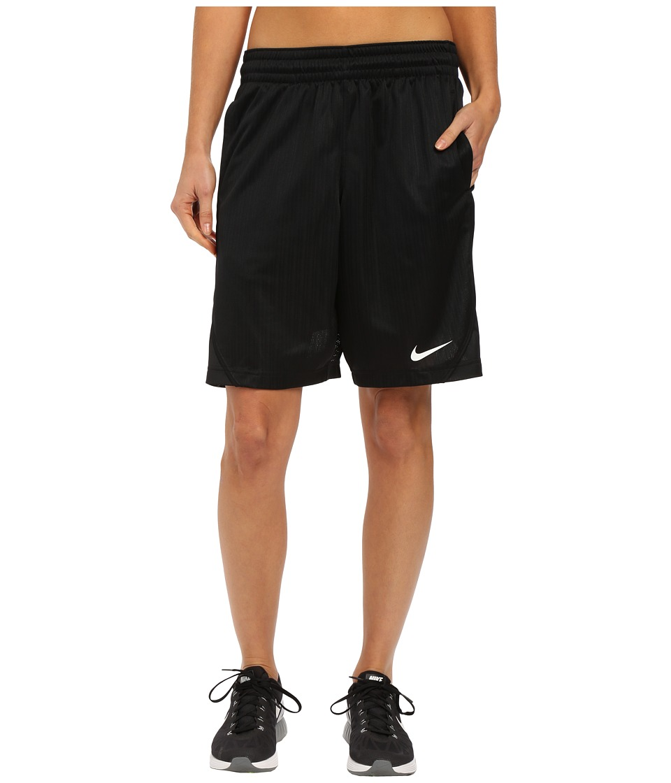 Nike - Essential Basketball Short (Black/Black/White) Women
