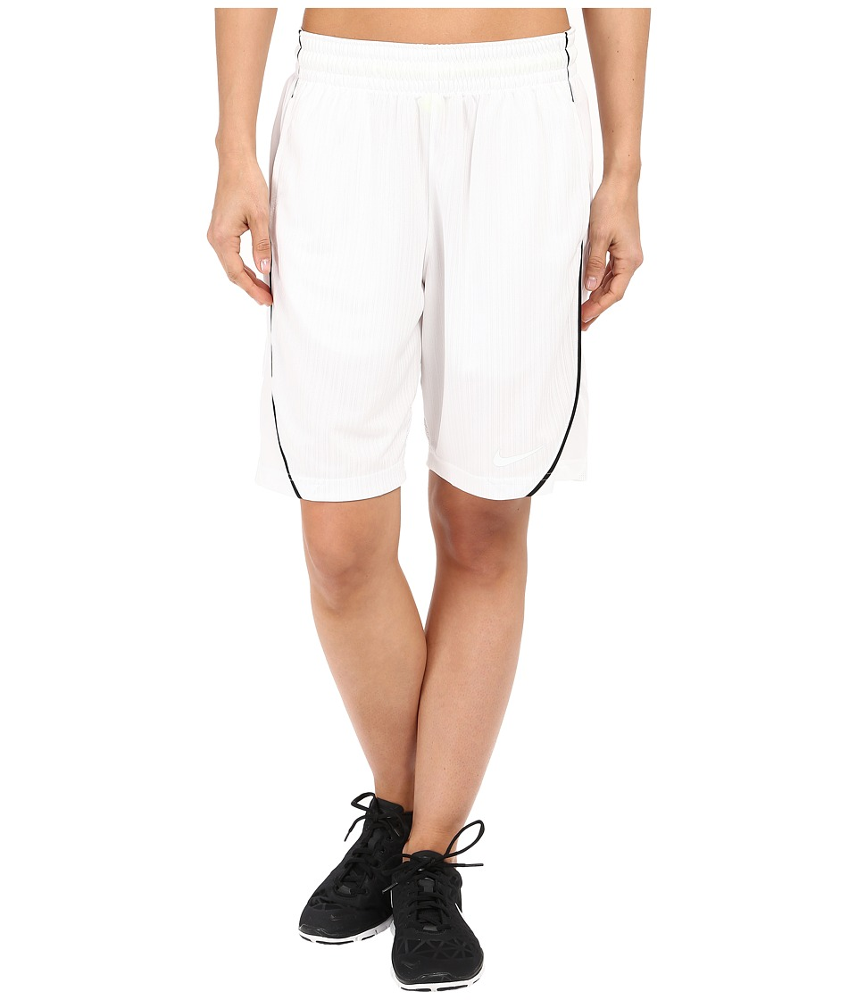 Nike - Essential Basketball Short (White/Black/White) Women's Shorts