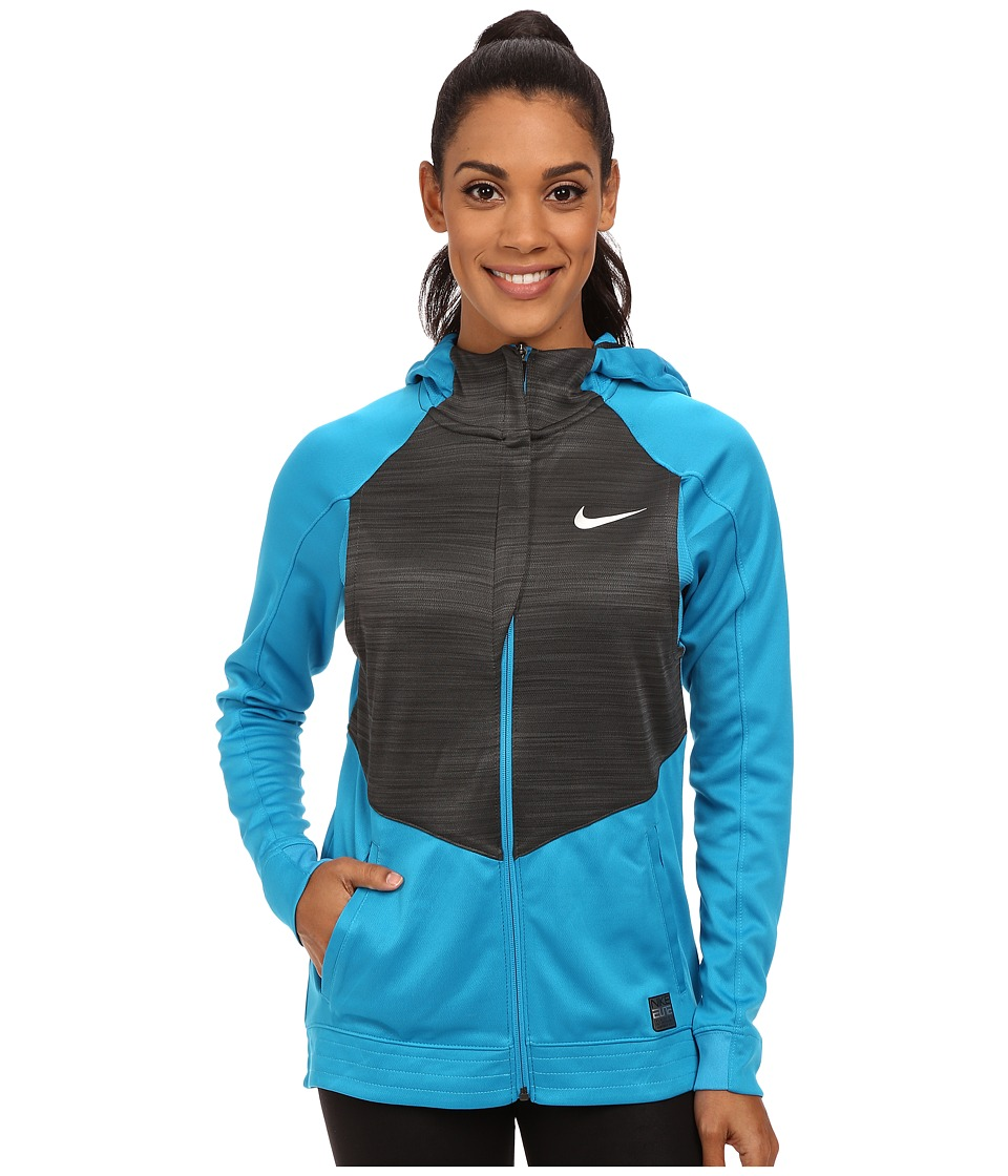 Nike - Hyperlite Hoodie (Tidal Blue/Anthracite/Metallic Silver) Women's Jacket