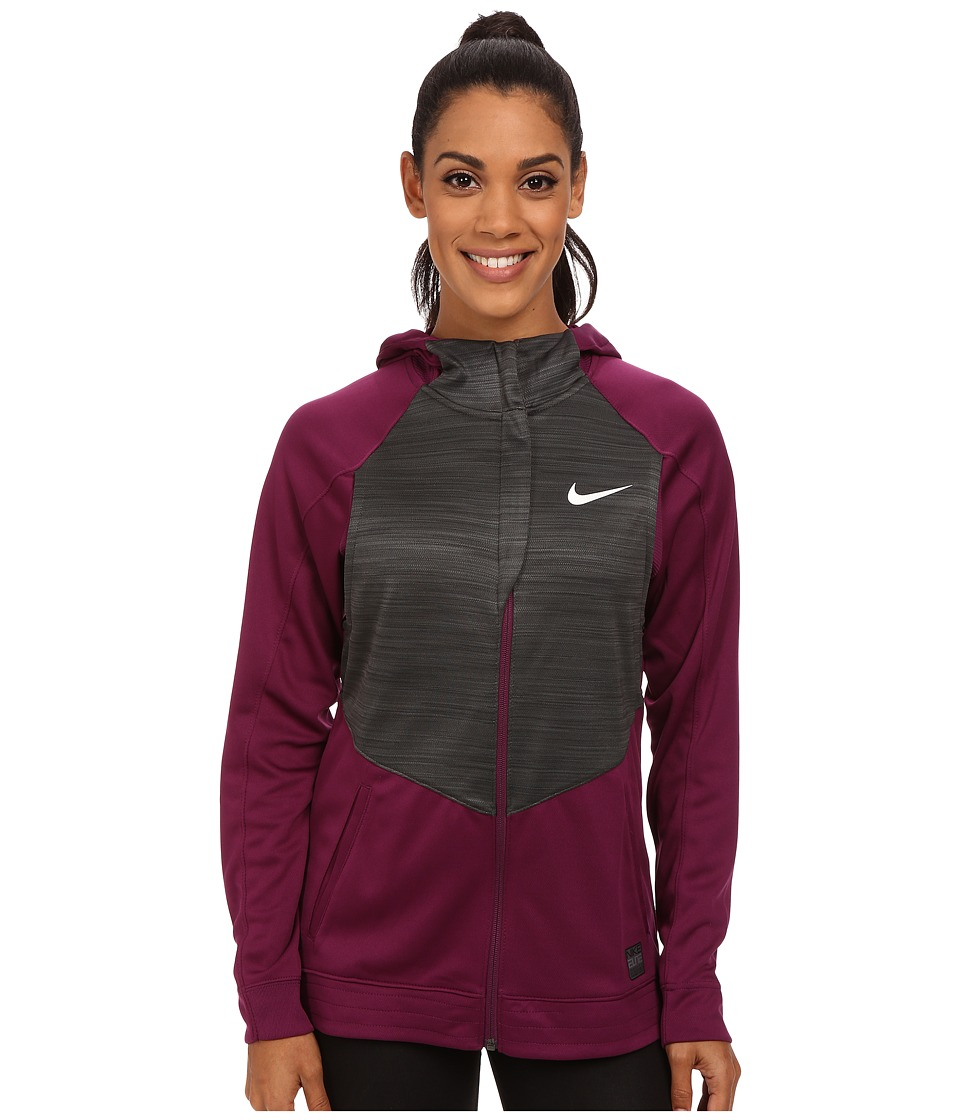 Nike - Hyperlite Hoodie (Mulberry/Anthracite/Metallic Silver) Women