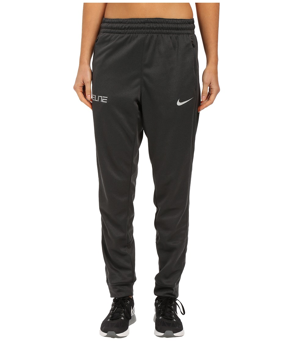 Nike - Elite Cuff Pants (Anthracite/Metallic Silver) Women's Workout
