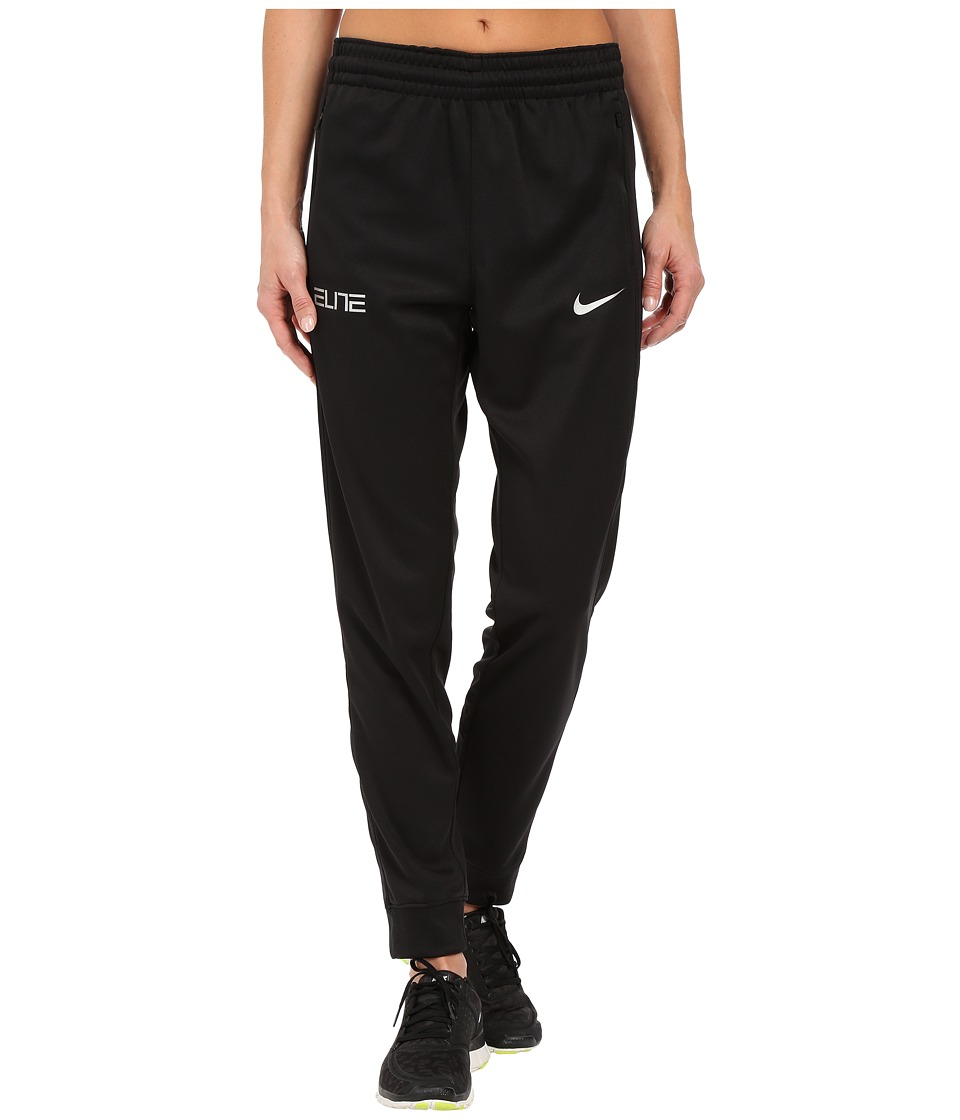 Nike - Elite Cuff Pants (Black/Metallic Silver) Women's Workout