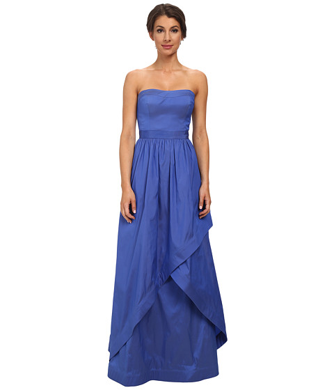 Adrianna Papell - Strapless Taffeta Ball Gown w/ Cross Skirt Detail (Perri) Women's Dress
