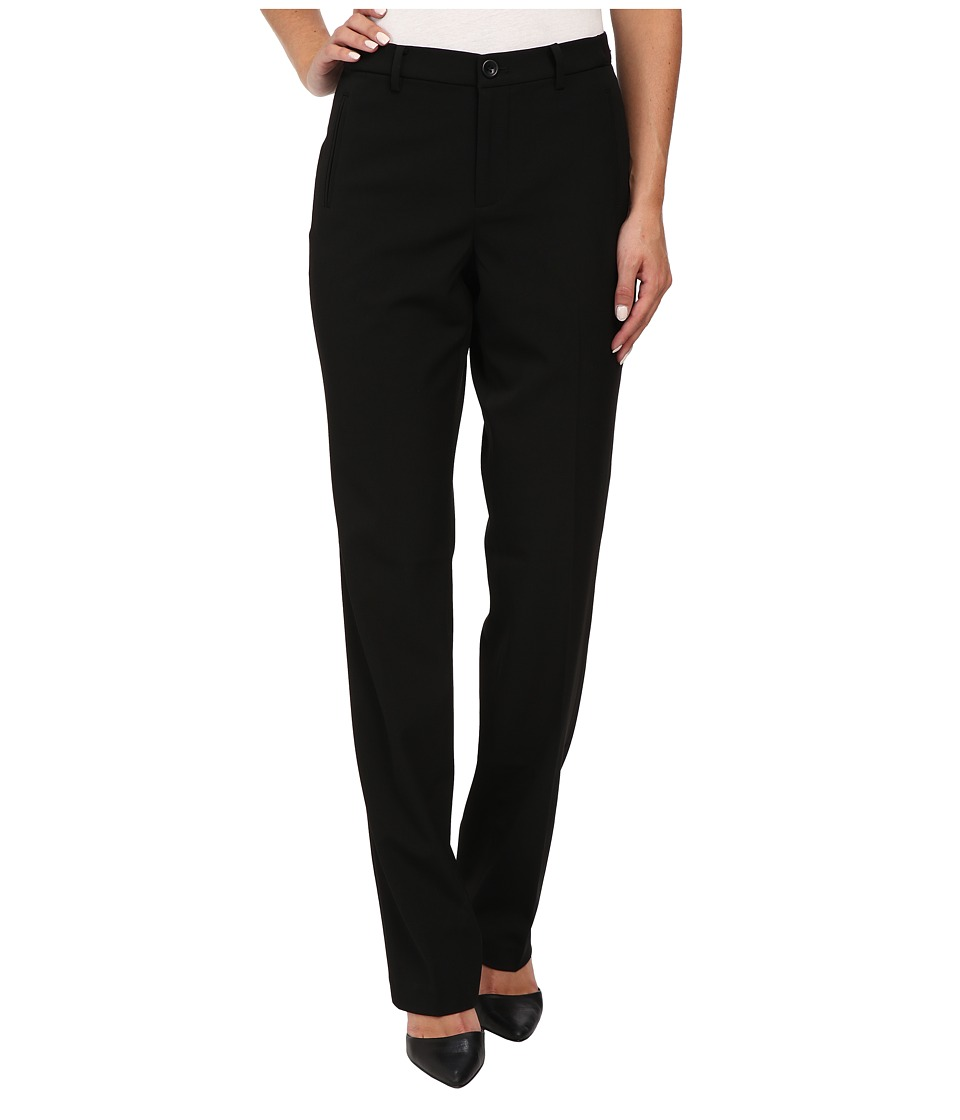 NYDJ - Sandrah Slim Career Trouser (Black) Women's Casual Pants