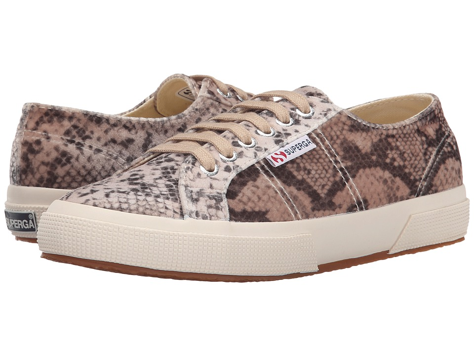 Superga - 2750 Velvet Snake (Beige Multi) Women