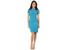 Partial Tuck Dress w/ Short Sleeve