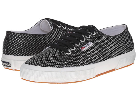 Superga - 2750 Metallic Mesh (Silver) Women's Lace up casual Shoes