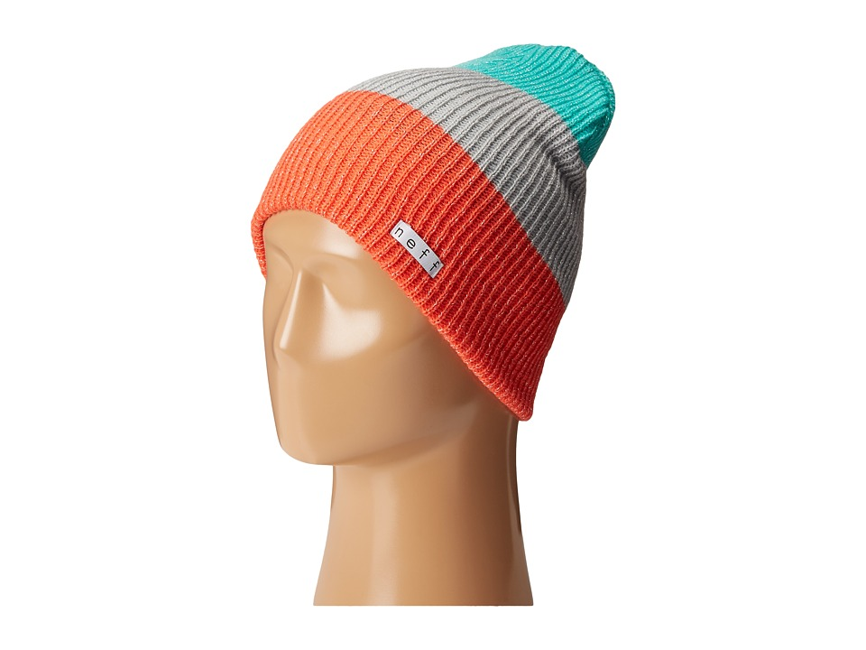 Neff - Sparkle Trio (Coral/Grey/Teal) Beanies