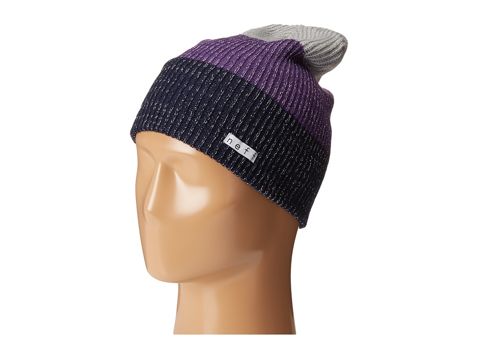 Neff - Sparkle Trio (Navy/Purple/Grey) Beanies