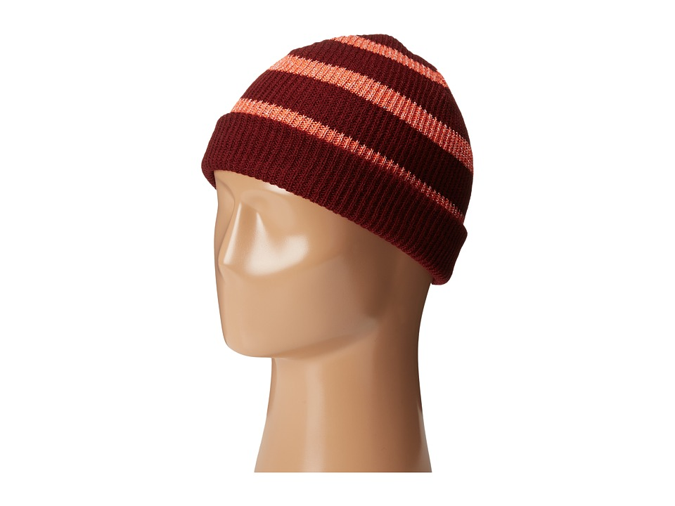 Neff - Daily Sparkle Stripe (Maroon/Coral) Beanies