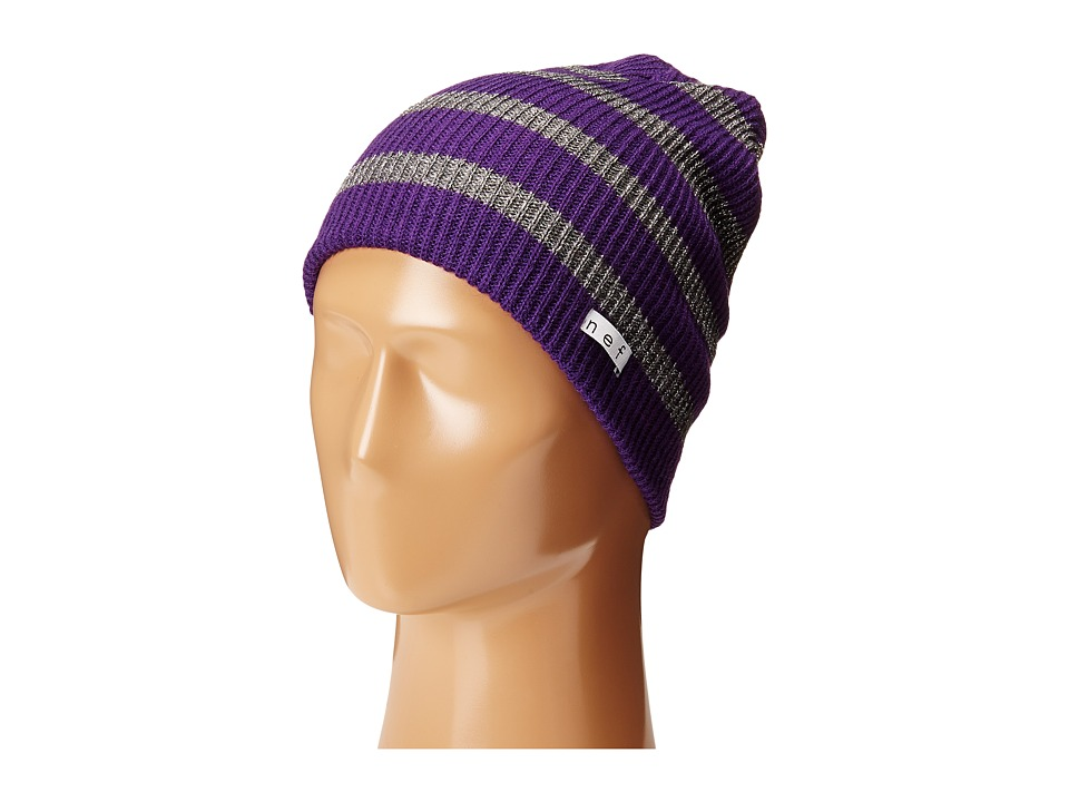 Neff - Daily Sparkle Stripe (Purple/Grey) Beanies