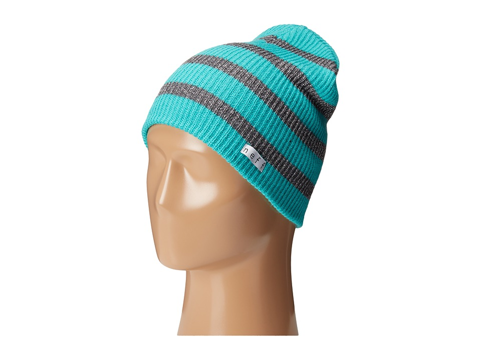 Neff - Daily Sparkle Stripe (Teal/Grey) Beanies