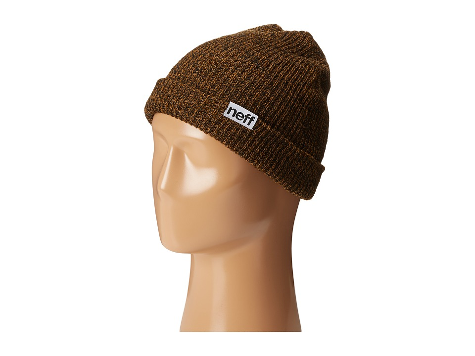 Neff - Fold Heather Beanie (Black/Cumin) Beanies