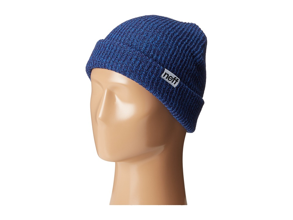 Neff - Fold Heather Beanie (Navy/Blue) Beanies