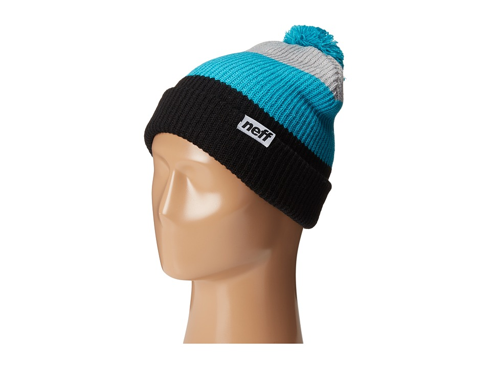 Neff - Snappy Beanie (Black/Teal/Grey) Beanies