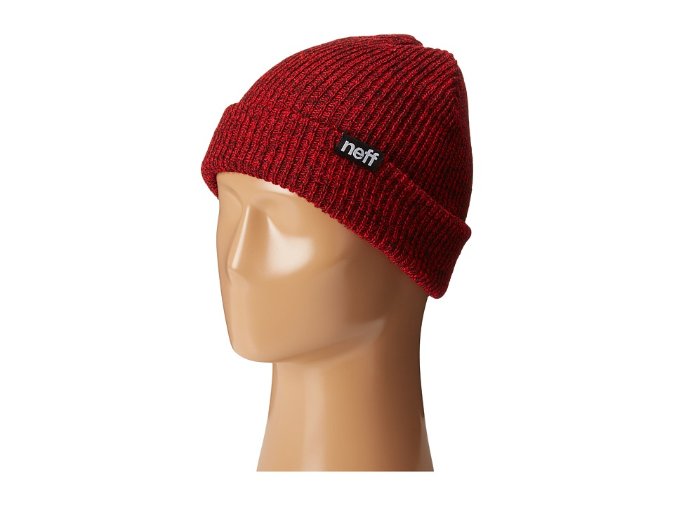 Neff - Daily Double Beanie (Black/Red) Beanies