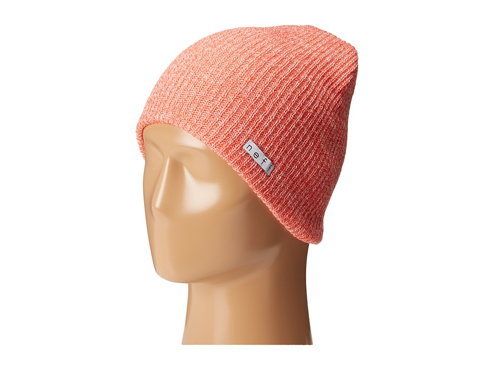 Neff - Daily Heather Beanie (Coral/White) Beanies