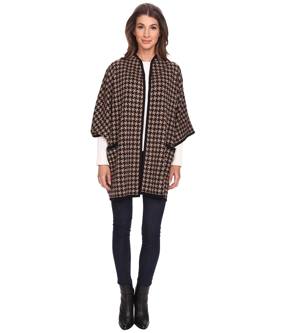 Pendleton - Houndstooth Cape (Camel Heather Multi) Women's Clothing