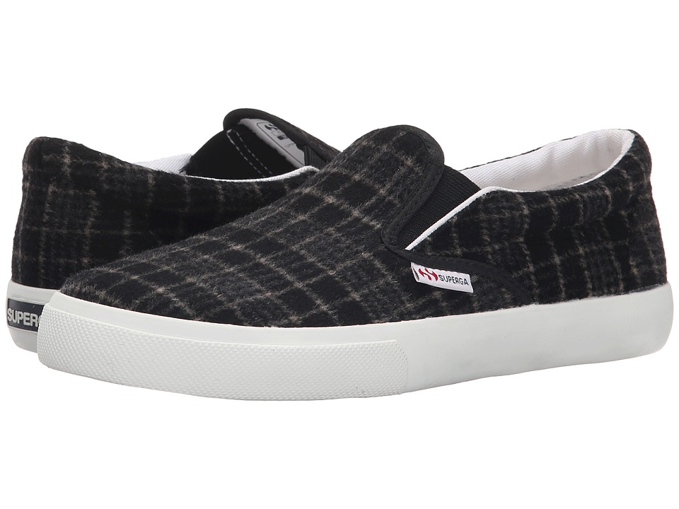 Superga - 2311 Wool Plaid (Black) Women