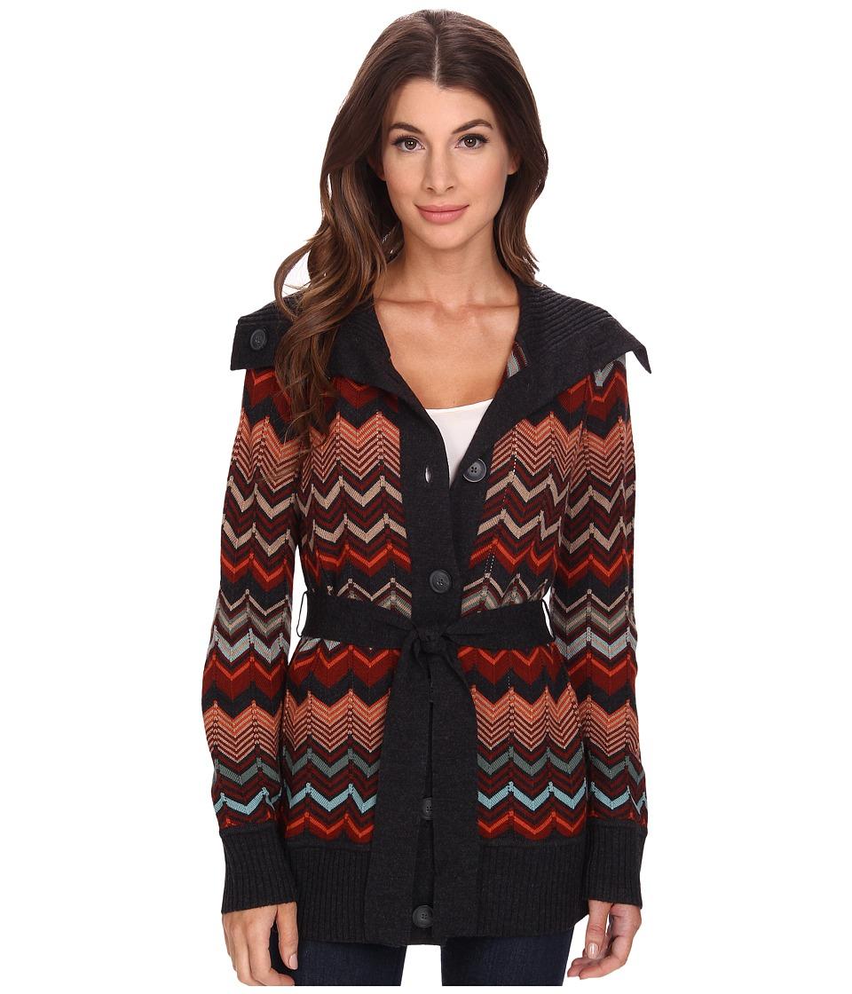 Pendleton - Autumn Days Cardigan (Charcoal Heather Multi) Women's Sweater