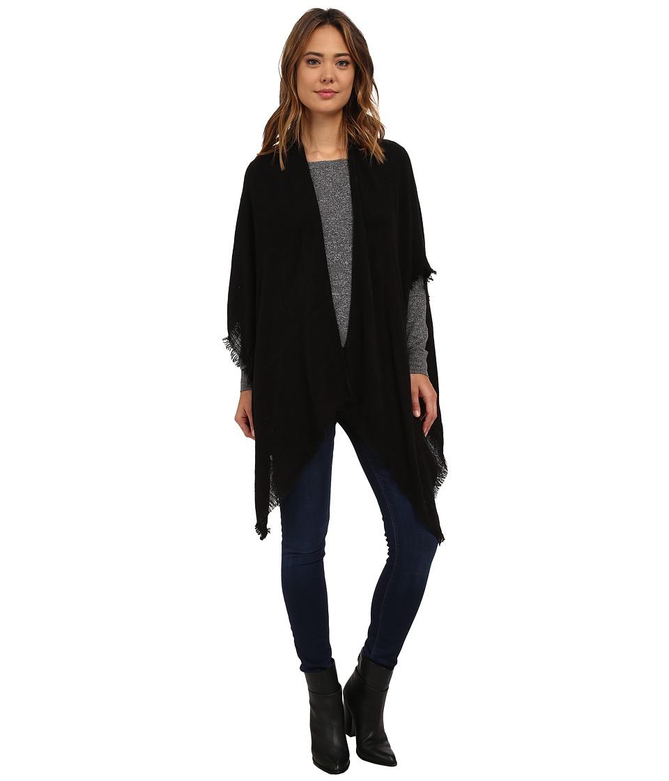 Echo Design - Feather Weight Ruana (Black) Women's Sweater