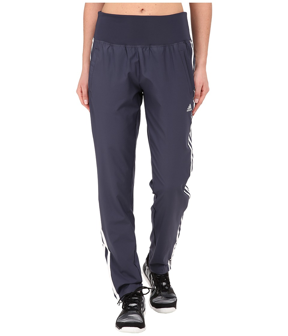 adidas - Derby Track Woven Pant (Midnight Grey/White/Matte Silver) Women's Casual Pants