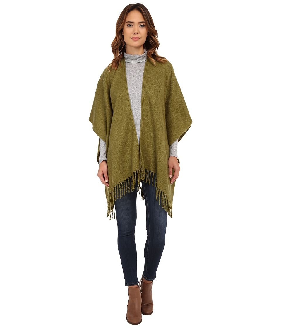 Echo Design - Boucle Ruana (Dark Olive) Women's Clothing
