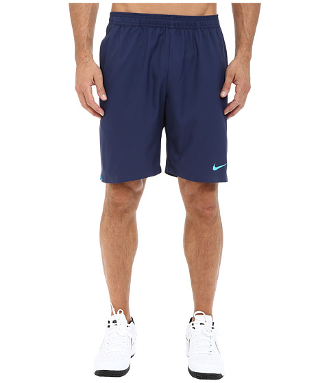 Nike - Court 9 Short (Midnight Navy/Midnight Navy/Blue Lagoon) Men