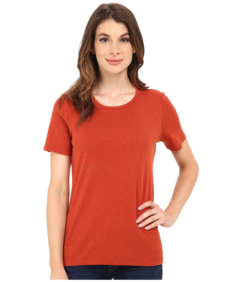 Pendleton - S/S Rib Tee (Red Ochre Heather) Women