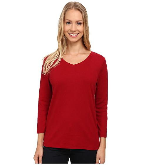 Pendleton - Three-Quarter Sleeve Rib Tee (Red Rock) Women's T Shirt