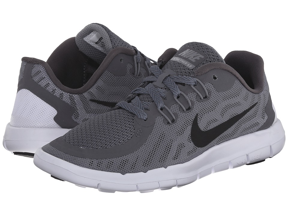 Nike Kids - Free 5.0 (Little Kid) (Dark Grey/Wolf Grey/Cool Grey/Black) Boys Shoes