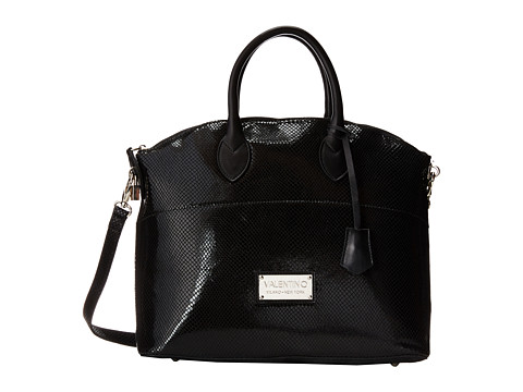 Valentino Bags by Mario Valentino - Bravia (Black Python) Satchel Handbags