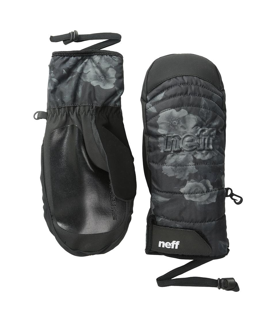 Neff - Womens Digger Mitt (Black/Floral) Snowboard Gloves