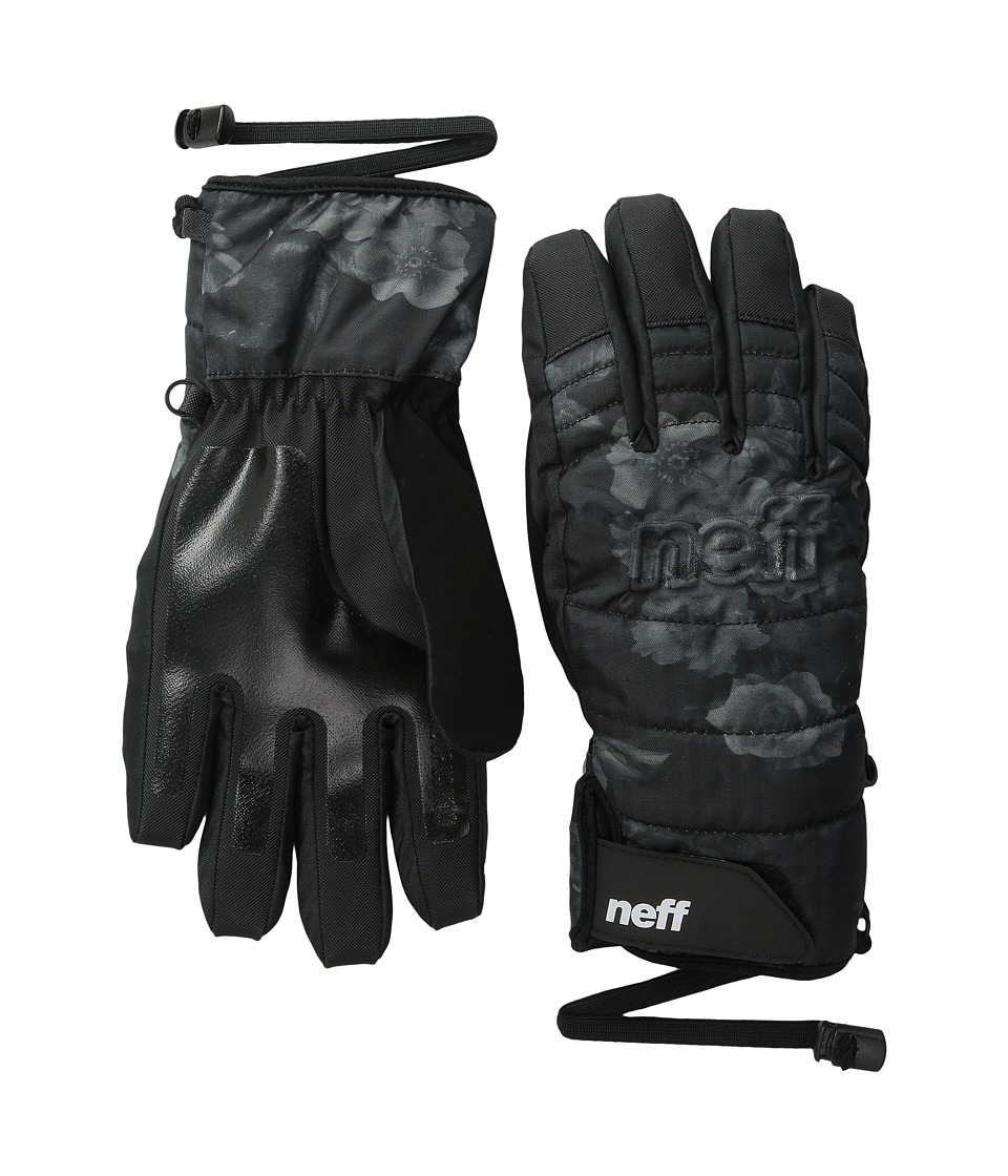Neff - Womens Digger Glove (Black/Floral) Snowboard Gloves